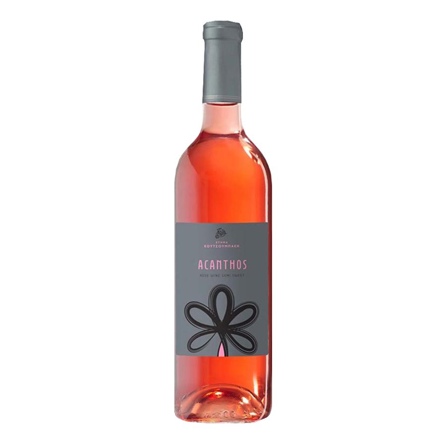 Acanthos Rose Wine Semi-Sweet 750ml -Koutsoumpakis Estate