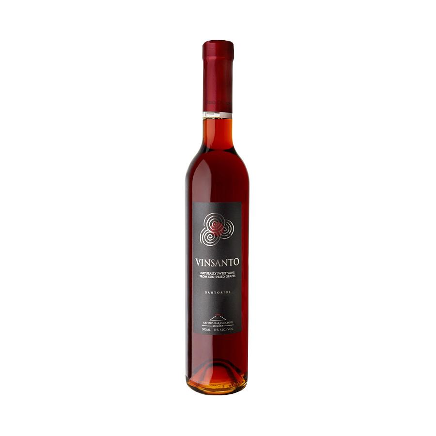 Vinsanto Καραμολέγκος   ΠΟΠ Σαντορίνη Φυσικώς Γλυκύς Λευκός Ασύρτικο Αηδάνι (2008) 500ml   Artemis Karamolegos Winery