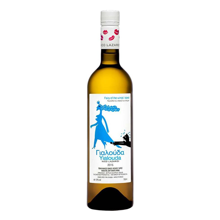 Γιαλούδα | Λευκός Ξηρός Ασύρτικο Βηλάνα Βιδιανό (2015) 750ml | Αμπελώνες Μυκόνου