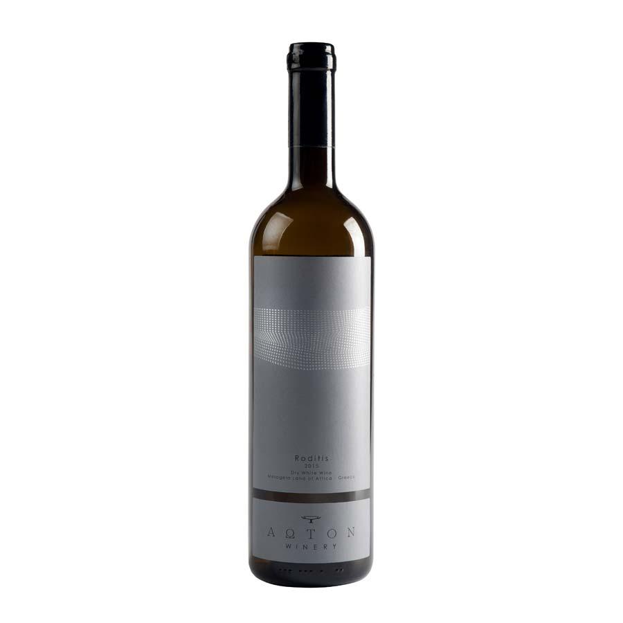 Ροδίτης Άωτον | ΠΓΕ Αττική Λευκός Ξηρός (2015) 750ml | Οινοποιείο Άωτον