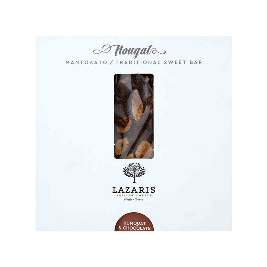 Lazaris Μαντολάτο Σοκολάτα & Κουμ Κουάτ 150g - Lazaris Distillery & Artisan Sweets