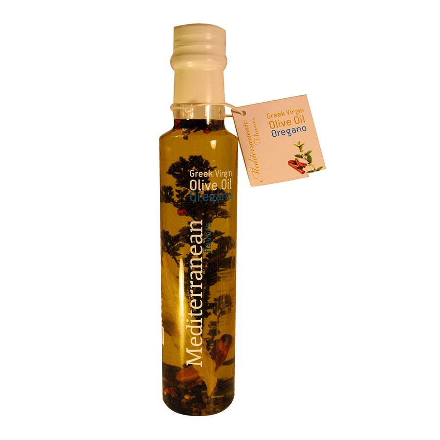 Mediterranean Flavors Παρθένο Ελαιόλαδο με Ρίγανη 250ml - Nature Blessed
