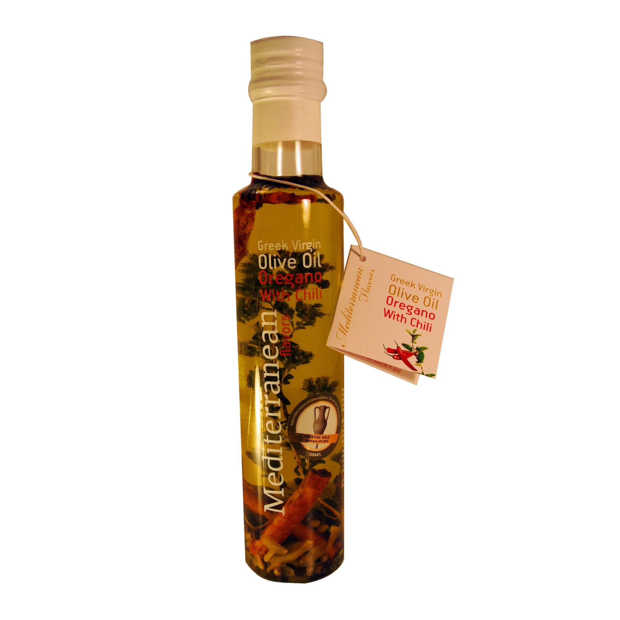 Mediterranean Flavors Παρθένο Ελαιόλαδο με Ρίγανη & Τσίλι 250ml | Nature Blessed