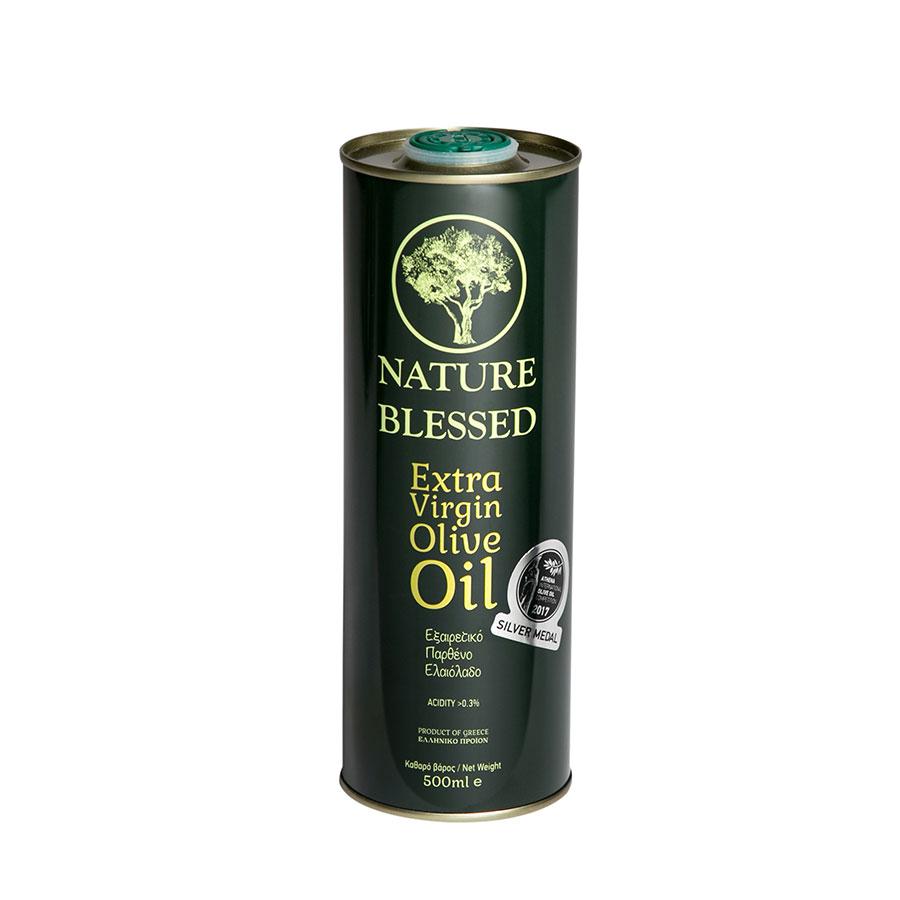 Nature Blessed | Εξαιρετικό Παρθένο Ελαιόλαδο Μεταλλικό Δοχείο 500ml | Χαμηλή Οξύτητα | Nature Blessed