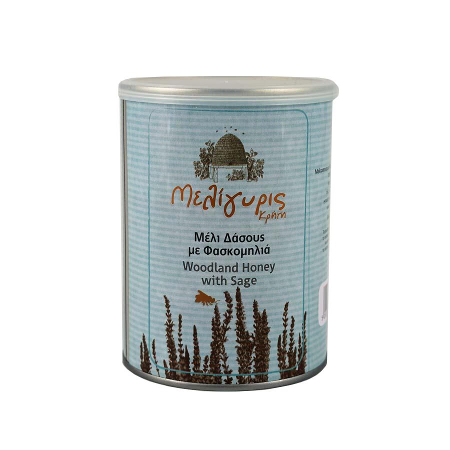 Κρητικό Μέλι Δάσους με Φασκομηλιά | Φυσικό Ελληνικό Άθερμο Μεταλλικό Δοχείο 700g | Μελίγυρις