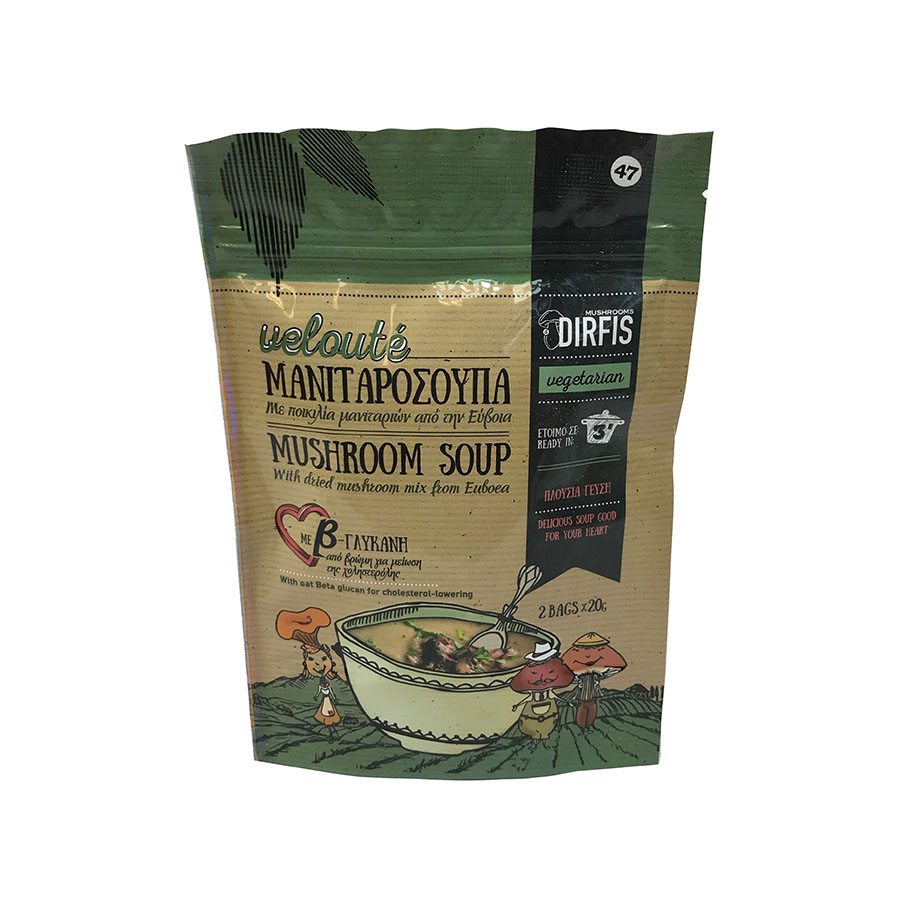 Mushroom Soup Veloute (2x20g) 40g - Manitaria Dirfis