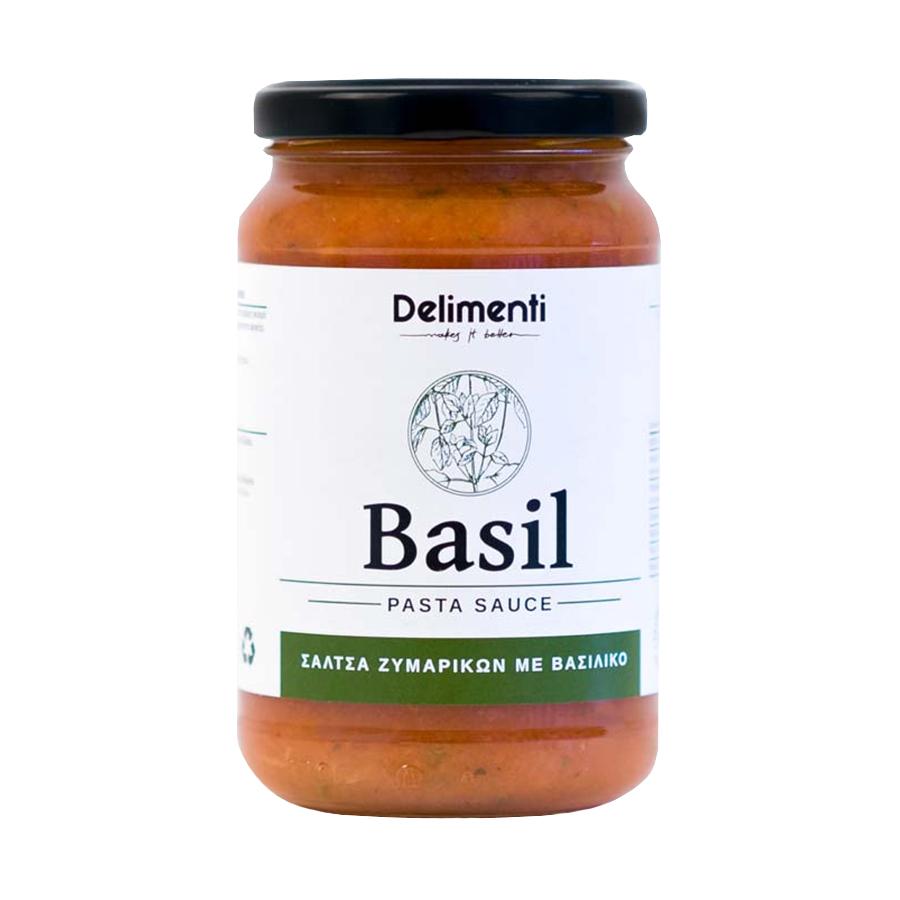 Σάλτσα Ζυμαρικών με Βασιλικό 330g - Delimenti