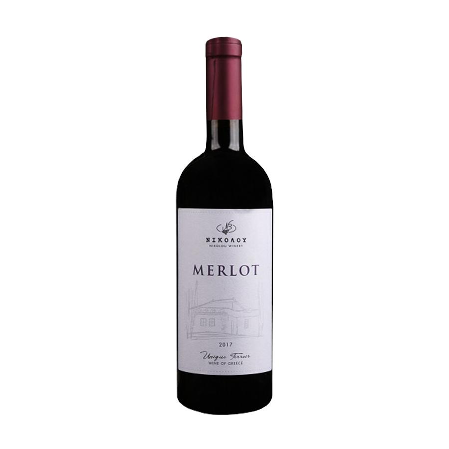 Merlot Nikolou 2017   Dry Red Wine 750ml   Nikolou Winery