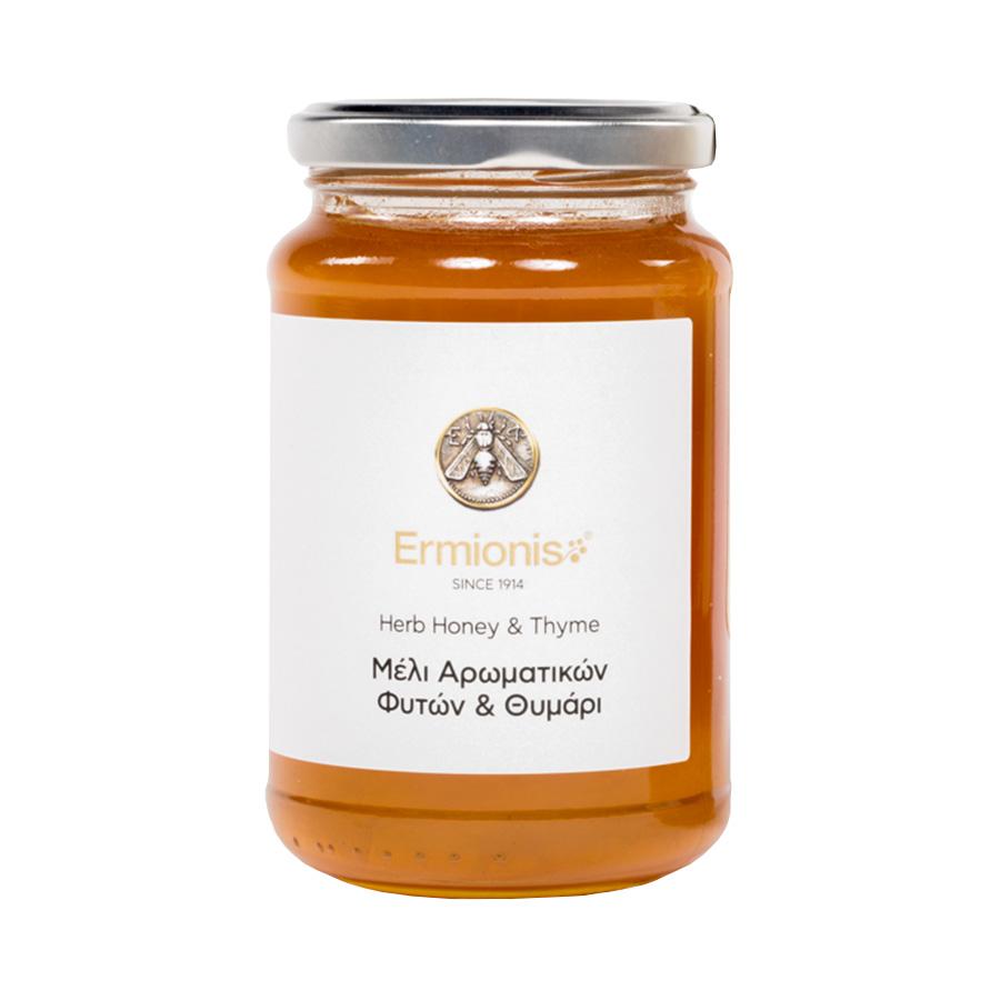Ermionis | Μέλι Αρωματικών Φυτών και Θυμάρι 470g | Ελληνικό Φυσικό |Μελισσοκομία Μπαϊρακτάρη