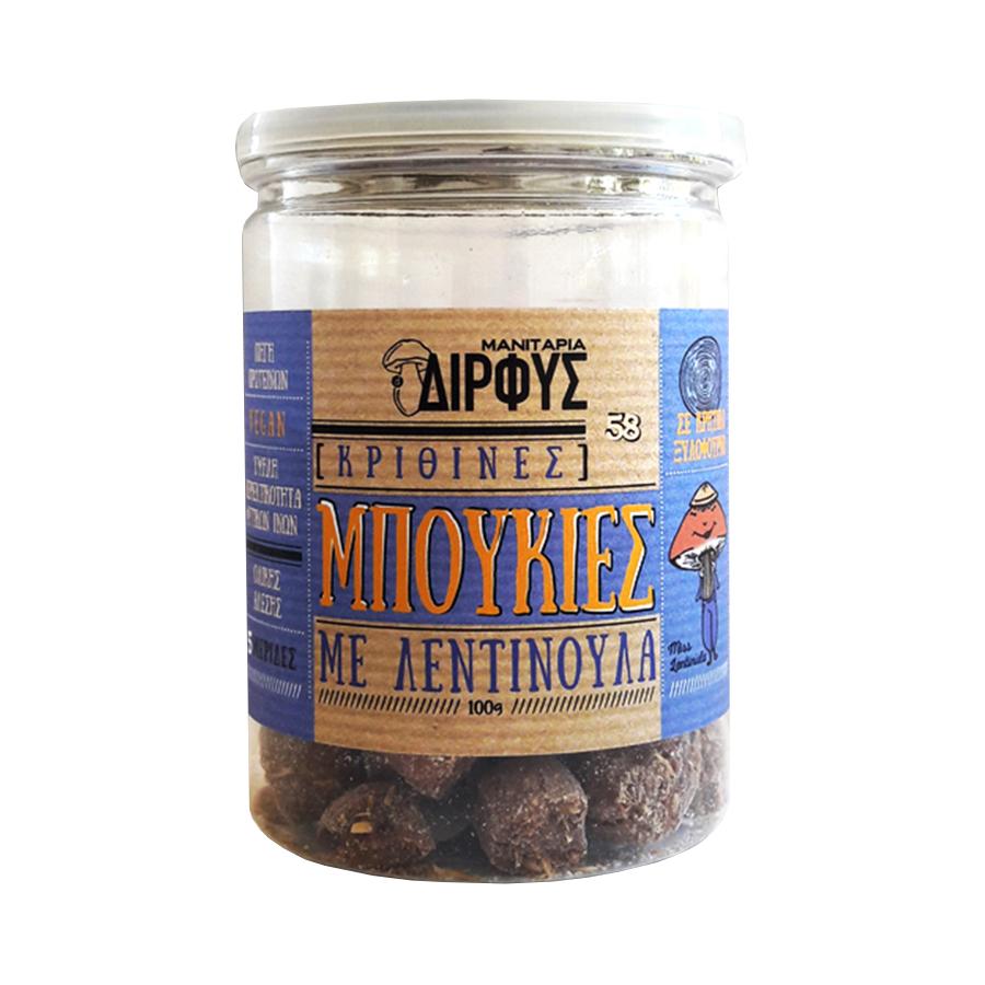 Barley Bites with Lentinula Mushroom 100g | Dirfis