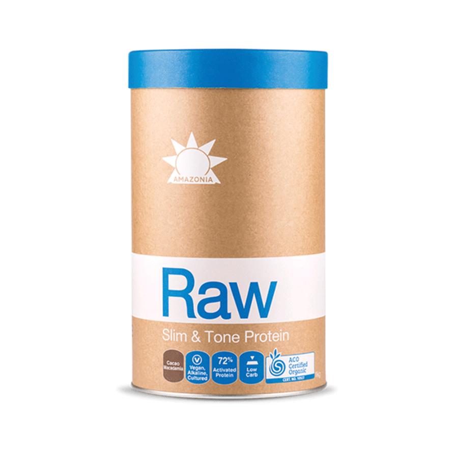 Ωμή Βιολογική Πρωτεΐνη Slim &Tone Κακάο και Μακαντάμια Χωρίς Γλουτένη 1kg | Amazonia