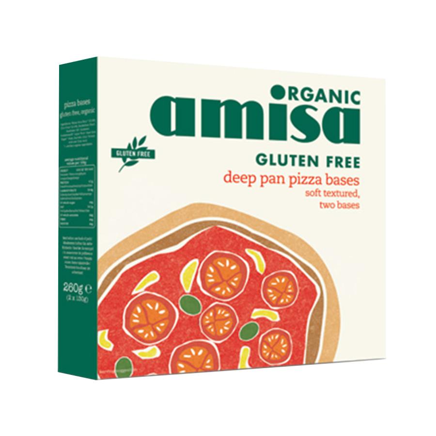 Βάση Πίτσας (2 τμχ) 260gr | Βιολογικό Αρτοσκεύασμα Χωρίς Γλουτένη | Amisa
