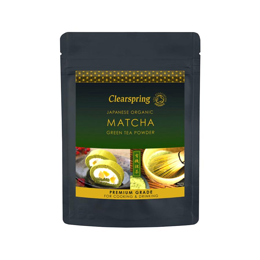 Βιολογικό Πράσινο Τσάι Matcha Premium σε Σκόνη Χωρίς Ζάχαρη 40g | Clearspring