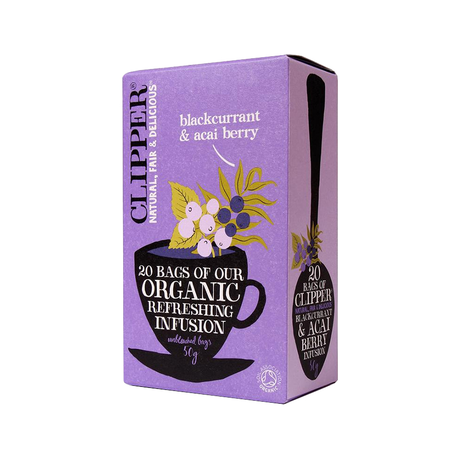 Blackcurrant and Acai berry Infusion 20 sachets - Clipper