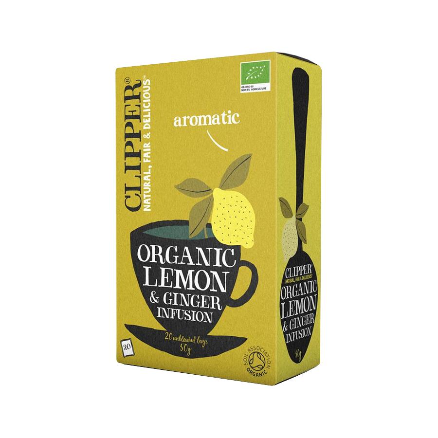 Lemon & Ginger Infusion 20 sachets - Clipper