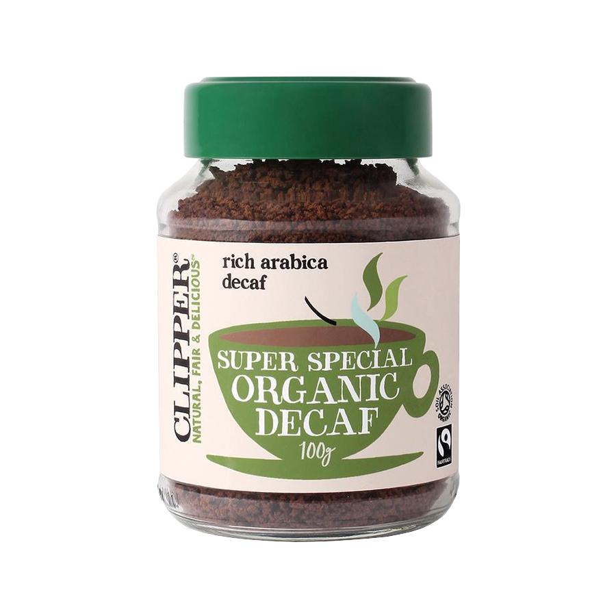 Βιολογικός Στιγμιαίος Καφές Arabica Χωρίς Καφεΐνη Freeze Dried Χωρίς Ζάχαρη 100g | Clipper