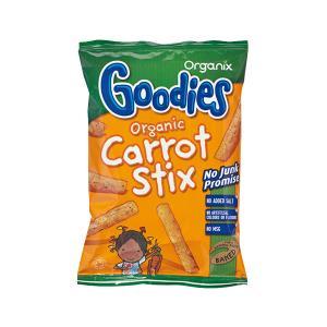 Carrot Sticks | Σνακ με Καλαμπόκι Καρότο και Μυρωδικά 15g | Goodies Organix
