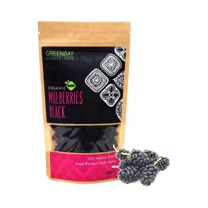 Dried Black Μulberries ΒΙΟ 125g - Berries & Nuts