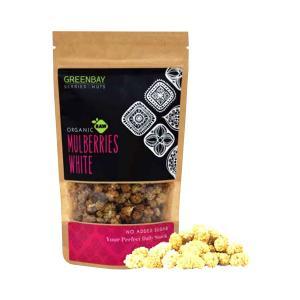 Λευκά Μούρα Mulberries White 125g | Ωμά Βιολογικά Αποξηραμένα Φρούτα | GreenBay