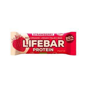 Μπάρα Πρωτεϊνης Φράουλα 47g | Ωμό Βιολογικό Σνακ Χωρίς Γλουτένη | Lifefood