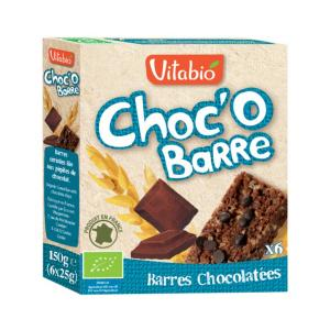 'Choc' OBarre' Cereal Βars with Chocolate 150g - Vitabio