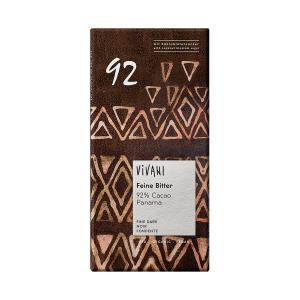 Dark Chocolate with 92% Cocoa Panama & Coconut Blossom Sugar 80g - Vivani