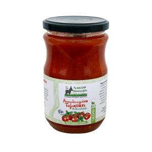 Peeled Chopped Tomatoes with Basil 660ml - Πράσινο Μονοπάτι