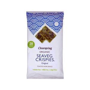 Seaveg Crispies NORI 5gr | Organic Snack Gluten Free | Clearspring