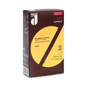 Easy Espresso Oro  | Espresso Coffee Capsules (pack of 10) 52g | Nespresso Compatible | Danesi