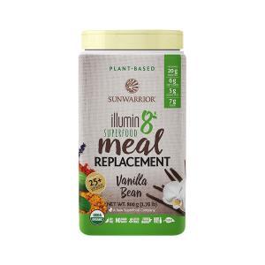 Plant-Based Meal Replacement with Vanilla Bean Flavor ILLUMIN8 800gr | Organic Gluten Free | Sunwarrior