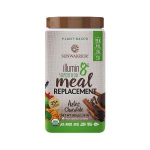 Plant-Based Meal Replacement ILLUNI8 Aztec Chocolate 800g | Organic Gluten Free | Sunwarrior