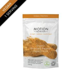 Organic Vegan Protein Roasted Peanut (1 serving - 25g) | Motion Nutrition