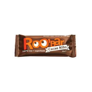 Organic Raw Bar with Cacao Nibs 30g | Roobar