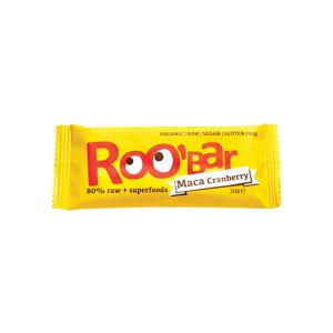Organic Raw Bar with Maca Powder anfd Cranberry 30g | Roobar
