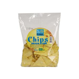 Nachos Corn Chips with Sour Cream and Onion 125g | Organic Snack Sugar Free | Pural