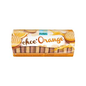 Organic Sandwich Biscuits with Chocolate and Orange Filling 85g | Vegan Dairy Free Snack Without Eggs | Pural
