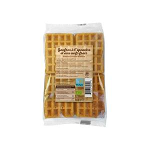 Organic Waffle with Dinkel and Fresh Eggs 165g | Fresh and Soft | Pural