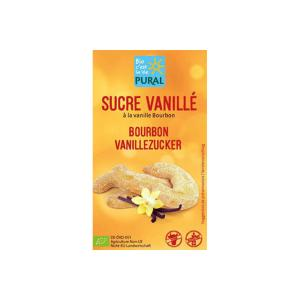 Organic Vanilla Sugar with Pure Bourbon Vanilla 5x8g | Vegan Gluten Free | Pural