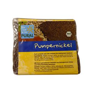 Organic Rye Bread Pumpernickel in Slices 375g | Vegan Sugar Free |Pural