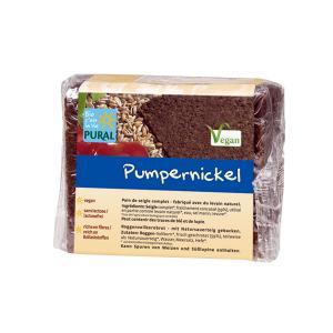 Βιολογικό Μαύρο Ψωμί Σίκαλης Pumpernickel σε Φέτες 375g | Vegan Χωρίς Ζάχαρη |Pural