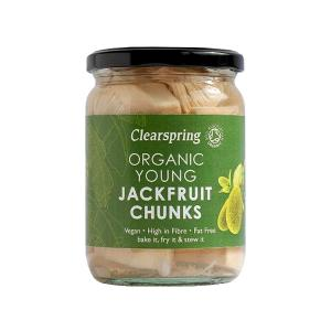 Organic Young Jackfruit Chunks 500g | Vegan Sugar Free | Clearspring