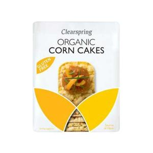 Organic Corn Cakes Lightly Salted 130g | Vegan Gluten Free No Added Sugar | Clearspring