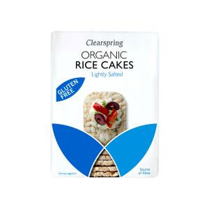 Organic Wholegrain Rice Cakes Lighty Salted 130g | Gluten Free Vegan Snack | Clearspring
