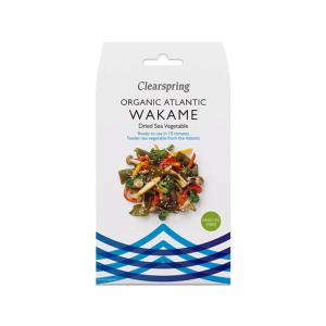 Delicious and Nutritious Wakame Dried Sea Vegetables. Organic, Rich in Fiber and Iodine, No Added Sugar, Low Fat, Vegan, Vegetarian, Macrobiotics. Clearspring