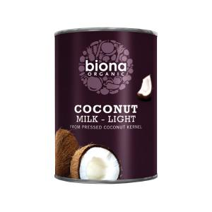 Coconut Milk Light 9% 400ml | Organic Vegan Low Fat | Biona