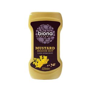 Medium Hot Mustard Squeeze 320ml | Organic No Added Sugar | Biona