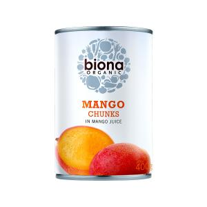 Mango Chunks in Mango Juice 400g | Organic Vegan No Sugar | Biona