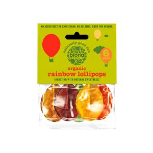 Rainbow Lollipops 50g | Organic Vegan Lollies | Biona