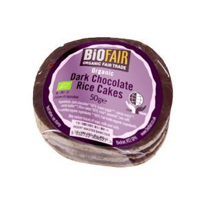 Ρυζογκοφρέτες με Mαύρη Σοκολάτα 50g | Βιολογικό Vegan Σνακ | Biona