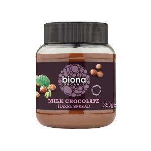 Επάλειμμα Σοκολάτας Γάλακτος με Φουντούκι 350g | Βιολογική Κρέμα | Biona